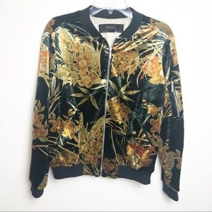 Zara Basic Collection Floral Bomber Jacket